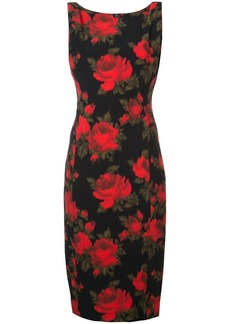 Michael Kors floral print fitted dress