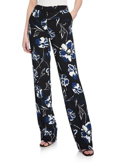Michael Kors Floral-Print Straight-Leg Trousers