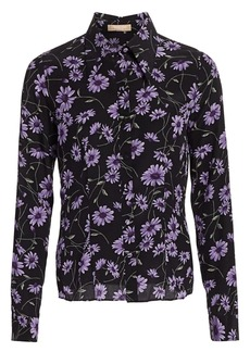 Michael Kors Floral Silk Button-Down Shirt