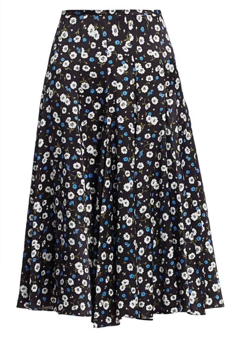 Michael Kors Floral Silk Dance Skirt