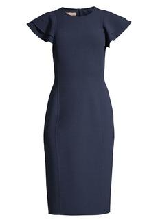 Michael Kors Flutter Sleeve Sheath Dress
