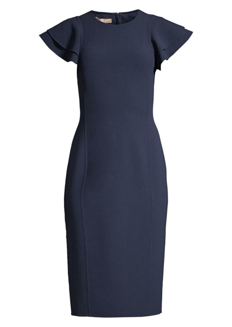 Michael Kors Flutter Sleeve Sheath Dress