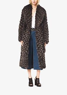 Michael Kors Fox Fur Tweed Coat