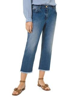 Michael Kors Frayed Crop Jeans