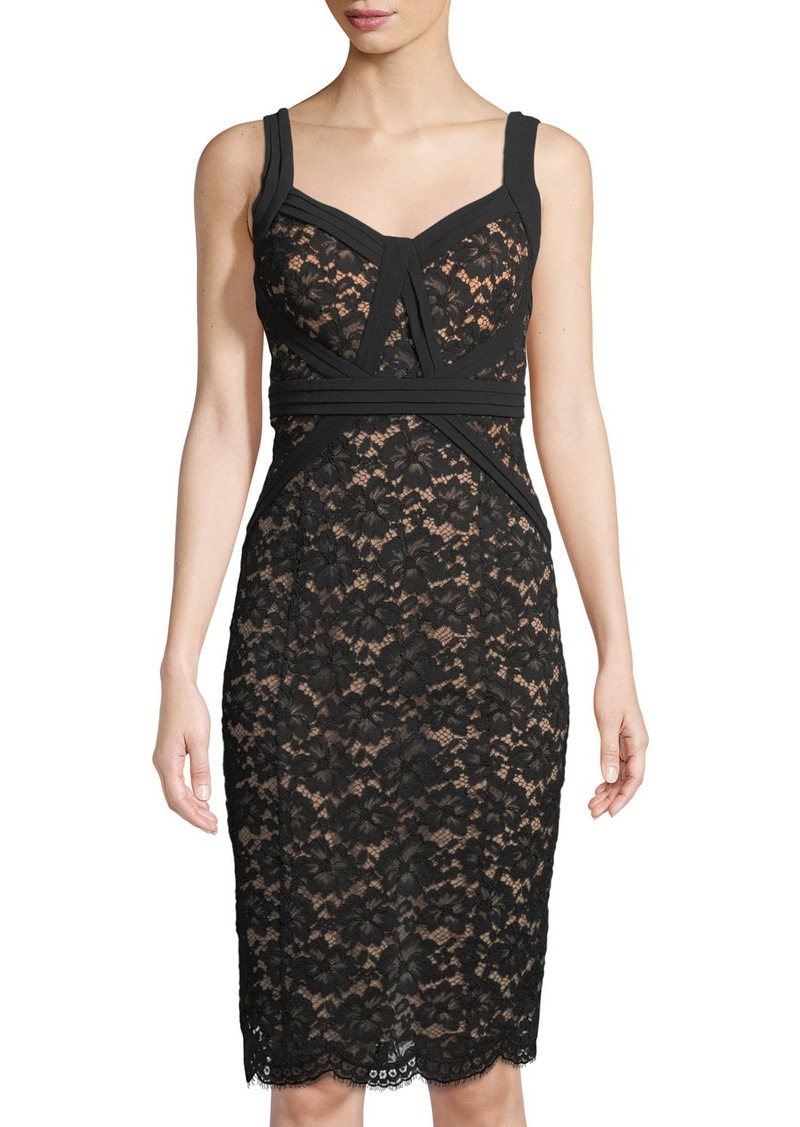 Michael Kors Gardenia Lace Sheath Dress