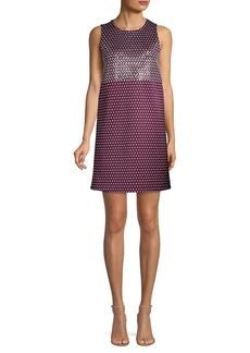 Michael Kors Geo Mix Sleeveless Shift Dress