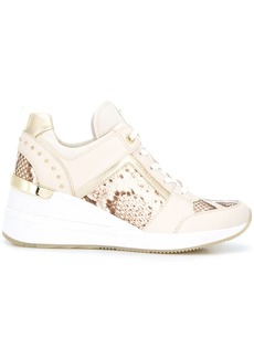 Michael Kors Georgie snakeskin print sneakers
