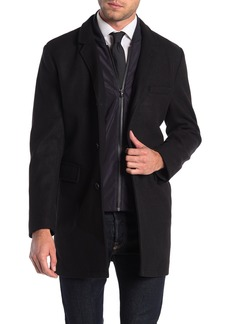 Michael Kors Ghent Felted Slim Fit Dickey Coat