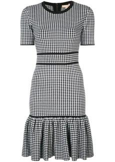 Michael Kors gingham fitted mini dress