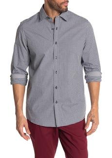 Michael Kors Gingham Print Classic Fit Shirt