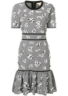 Michael Kors gingham print midi dress