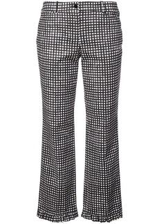 Michael Kors gingham ruffle-hem trousers