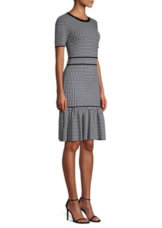 Michael Kors Gingham Stretch Sheath Dress