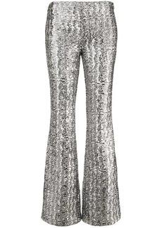 Michael Kors glitter effect flared trousers