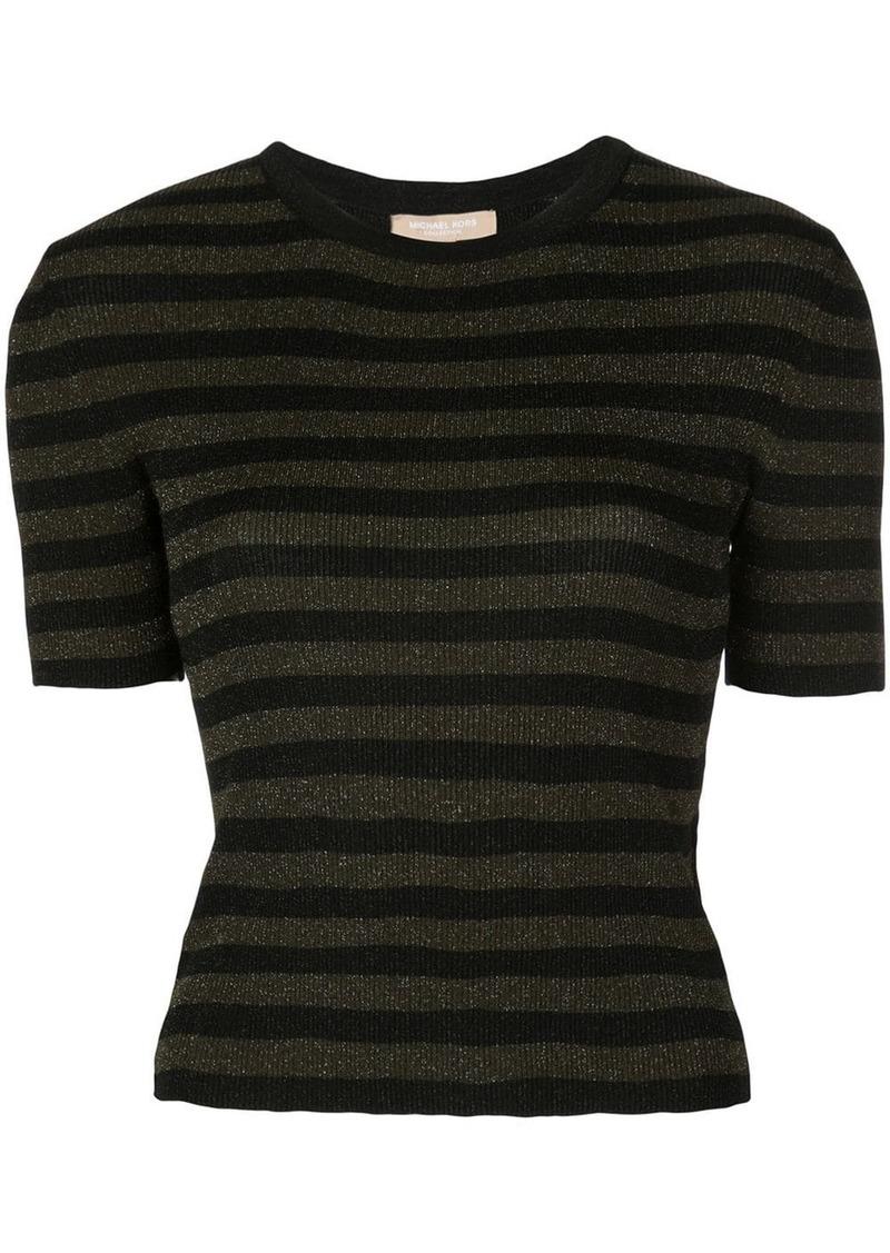 Michael Kors glitter striped top