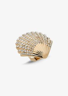 Michael Kors Gold-Tone Pavé Clamshell Ring