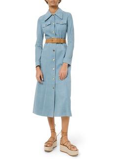 Michael Kors Heavy Suede Trench Coat Dress