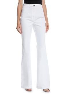 Michael Kors High-Waist Flare-Leg Denim Pants
