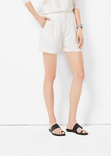 Michael Kors High-Waist Pleated Shorts