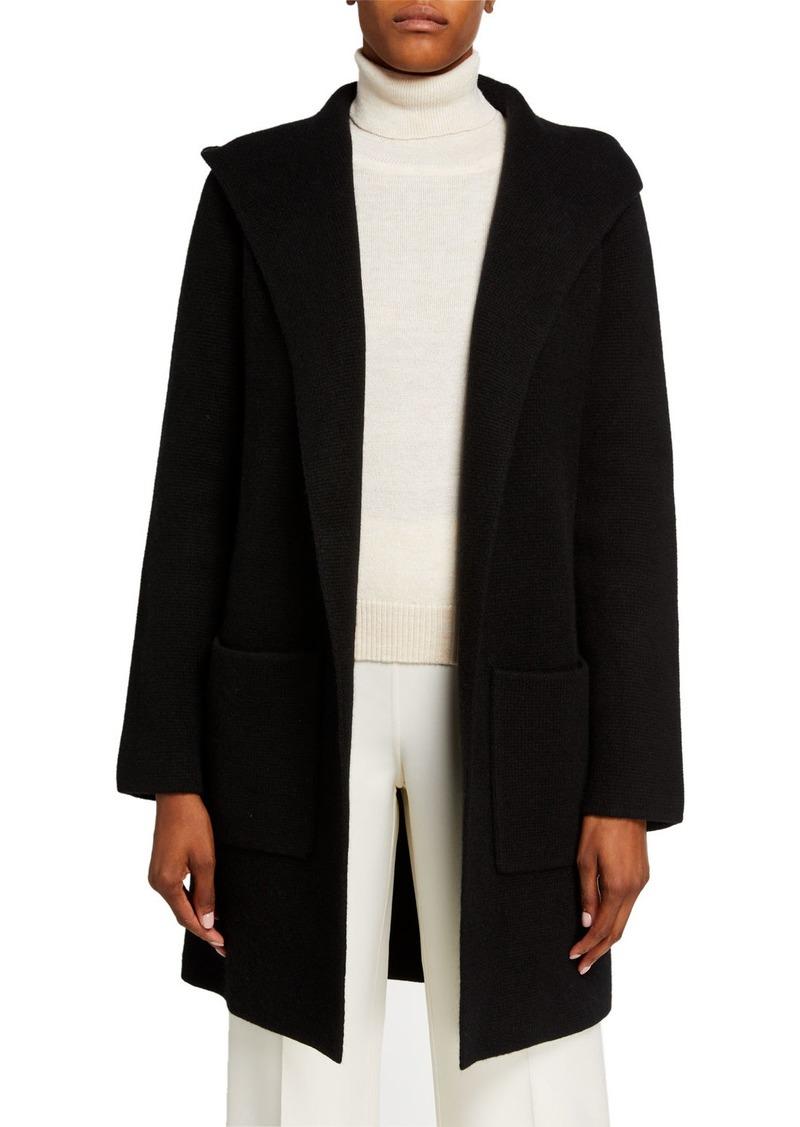 Michael Kors Hooded Cashmere-Blend Belted Coat