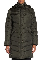 Michael Kors Hooded Down Midweight Coat