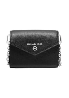 MICHAEL Michael Kors Extra-Small Jet Set Charm Leather Crossbody Card Case
