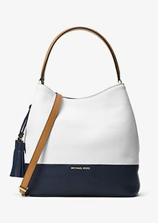 Michael Kors Kip Large Leather Bucket Bag