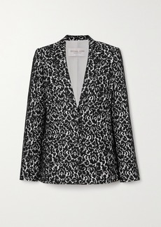 Michael Kors Lace And Crepe Blazer