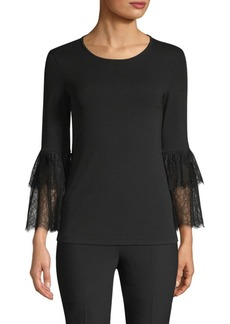 Michael Kors Lace Bell Sleeve Top
