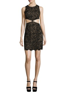 Michael Kors Lace Mini Dress W/Cutouts