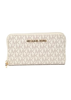 Michael Kors Large Jet Set Multifunction Monogram Leather Phone Wallet