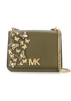 5f5a837df72545 Michael Kors Michael Kors Bancroft Leopard Tartan Satchel Bag | Handbags