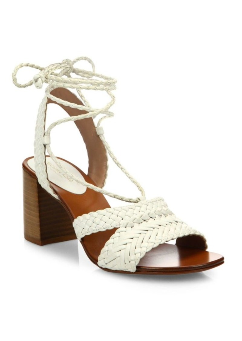 Michael Kors Lawson Leather Lace-Up Sandals