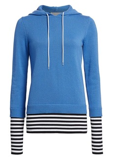 Michael Kors Layered Cashmere Pullover Hoodie