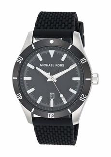 Michael Kors Layton Three-Hand Silicone Watch