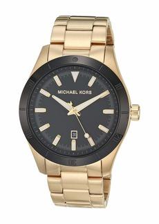 Michael Kors Layton Three-Hand Stainless Steel Watch