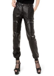Michael Kors Leather Cargo Jogger Pants
