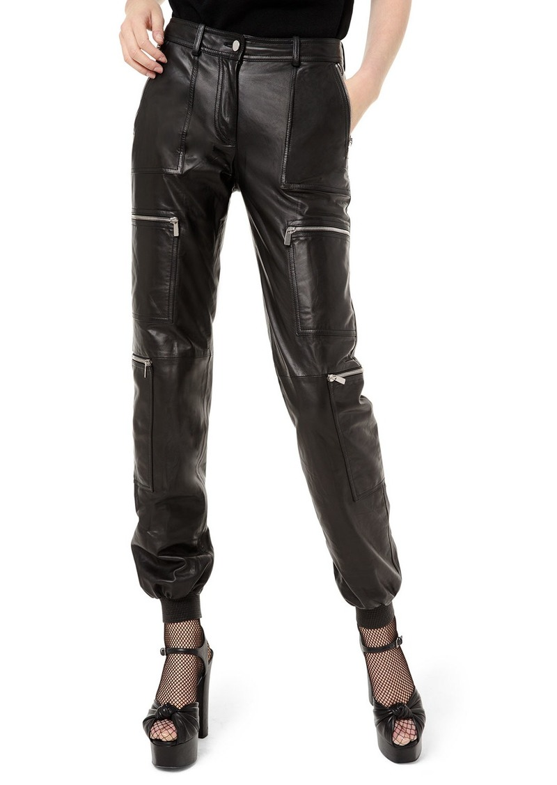 Michael Kors Leather Cargo Jogger Pants