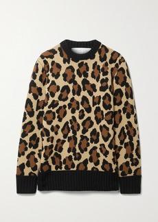 Michael Kors Leopard-jacquard Cashmere Sweater