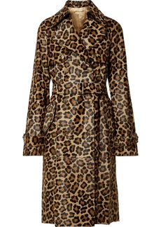 Michael Kors Leopard-print Calf Hair Trench Coat