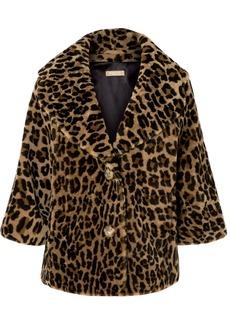 Michael Kors Leopard-print Shearling Coat