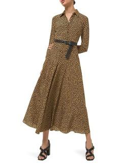Michael Kors Leopard-Print Silk Shirtdress