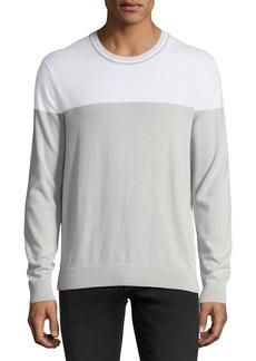 Michael Kors Lightweight Colorblock Pima Crewneck Sweater