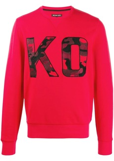 Michael Kors logo embroidered sweatshirt
