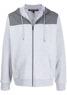 Michael Kors logo printed zipped hoodie