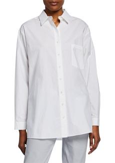 Michael Kors Long-Sleeve Cotton Button-Down Shirt