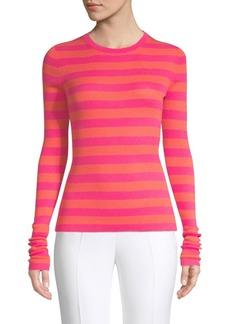 Michael Kors Long Sleeve Striped Sweater