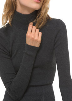 Michael Kors Long-Sleeve Wool Turtleneck Bodysuit