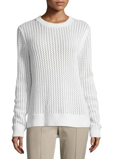 Michael Kors Long-Sleeve Zigzag-Ribbed Sweater