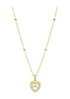 Michael Kors Love Is In The Air Pave Heart Pendant Necklace